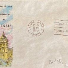 Sellos: SOBRE PRIMER DIA. CENTENNIAL OF VICTORIA. OTTAWA ONTARIO. CANADA, 1962. . Lote 186137900