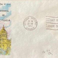 Sellos: SOBRE PRIMER DIA. CENTENNIAL OF VICTORIA. OTTAWA ONTARIO. CANADA, 1962. . Lote 186137931