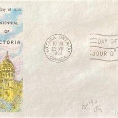 Sellos: SOBRE PRIMER DIA. CENTENNIAL OF VICTORIA. OTTAWA ONTARIO. CANADA, 1962. . Lote 186137942
