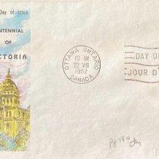 Sellos: SOBRE PRIMER DIA. CENTENNIAL OF VICTORIA. OTTAWA ONTARIO. CANADA, 1962. . Lote 186137951