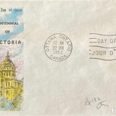 Sellos: SOBRE PRIMER DIA. CENTENNIAL OF VICTORIA. OTTAWA ONTARIO. CANADA, 1962. . Lote 186137968