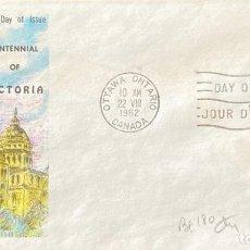 Sellos: SOBRE PRIMER DIA. CENTENNIAL OF VICTORIA. OTTAWA ONTARIO. CANADA, 1962. . Lote 186137993