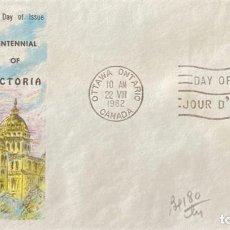 Sellos: SOBRE PRIMER DIA. CENTENNIAL OF VICTORIA. OTTAWA ONTARIO. CANADA, 1962. . Lote 186138235