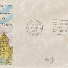 Sellos: SOBRE PRIMER DIA. CENTENNIAL OF VICTORIA. OTTAWA ONTARIO. CANADA, 1962. . Lote 186138281