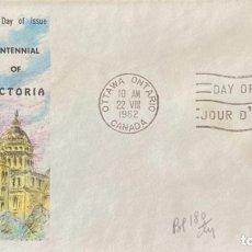 Sellos: SOBRE PRIMER DIA. CENTENNIAL OF VICTORIA. OTTAWA ONTARIO. CANADA, 1962. . Lote 186138285