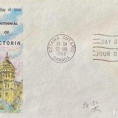 Sellos: SOBRE PRIMER DIA. CENTENNIAL OF VICTORIA. OTTAWA ONTARIO. CANADA, 1962. . Lote 186138302