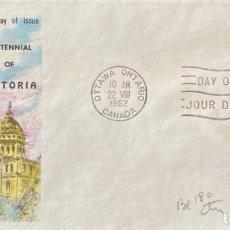 Sellos: SOBRE PRIMER DIA. CENTENNIAL OF VICTORIA. OTTAWA ONTARIO. CANADA, 1962. . Lote 186138373