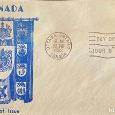 Sellos: SOBRE PRIMER DIA. DAY OF ISSUE. OTAWA ONTARIO. CANADA, 1962. . Lote 186141565