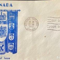 Sellos: SOBRE PRIMER DIA. DAY OF ISSUE. OTAWA ONTARIO. CANADA, 1962. . Lote 186141582