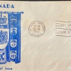 Sellos: SOBRE PRIMER DIA. DAY OF ISSUE. OTAWA ONTARIO. CANADA, 1962. . Lote 186141600