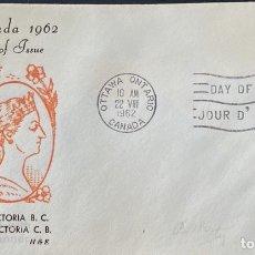 Sellos: SOBRE PRIMER DIA. CENTENARY OF VICTORIA B.C. 1862-1962. OTTAWA ONTARIO. CANADA, 1962. . Lote 186141981