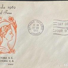 Sellos: SOBRE PRIMER DIA. CENTENARY OF VICTORIA B.C. 1862-1962. OTTAWA ONTARIO. CANADA, 1962. . Lote 186142006