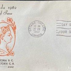 Sellos: SOBRE PRIMER DIA. CENTENARY OF VICTORIA B.C. 1862-1962. OTTAWA ONTARIO. CANADA, 1962. . Lote 186142055