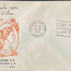 Sellos: SOBRE PRIMER DIA. CENTENARY OF VICTORIA B.C. 1862-1962. OTTAWA ONTARIO. CANADA, 1962. . Lote 186142146