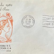 Sellos: SOBRE PRIMER DIA. CENTENARY OF VICTORIA B.C. 1862-1962. OTTAWA ONTARIO. CANADA, 1962. . Lote 186142197