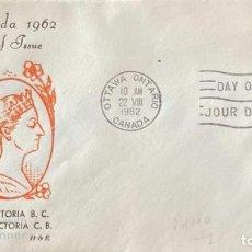 Sellos: SOBRE PRIMER DIA. CENTENARY OF VICTORIA B.C. 1862-1962. OTTAWA ONTARIO. CANADA, 1962. . Lote 186142231