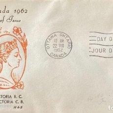 Sellos: SOBRE PRIMER DIA. CENTENARY OF VICTORIA B.C. 1862-1962. OTTAWA ONTARIO. CANADA, 1962. . Lote 186142277