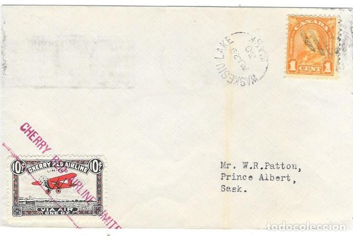 VUELO COMPAÑIA PRIVADA CHERRY LANE 1930 DE WASKESIU LAKE HASTA PRINCE ALBERT (Sellos - Extranjero - América - Canadá)