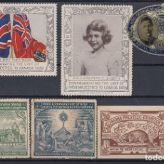 Sellos: F-EX8190 CANADA CINDERELLA STAMPS LOT. VISIT OF QUEEN + EXPO. MH NO GUM.. Lote 190652462