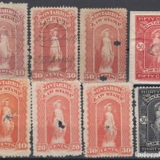 Sellos: F-EX8301 CANADA LOCAL REVENUE STAMPS LOT. LAW STAMPS ONTARIO.. Lote 190652465