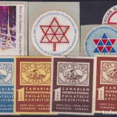 Sellos: F-EX9241 CANADA CINDERELLA STAMPS LOT MH – NO GUM.. Lote 190652466