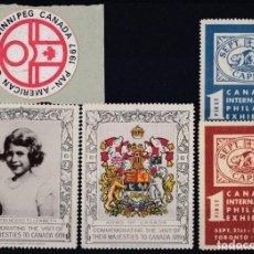 Sellos: F-EX14526 CANADA CINDERELLA ADVERTISING 1939 ROYAL VISIT & PHILATELIC EXPO.. Lote 190652468