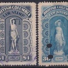 Sellos: F-EX6302 CANADA REVENUE LAW STAMP BRITISH COLUMBIA STATE.. Lote 190652470
