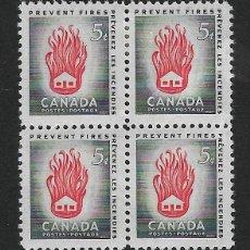 Sellos: CANADÁ. YVERT Nº 291 EN BLOQUE DE 4 NUEVO. Lote 190877975