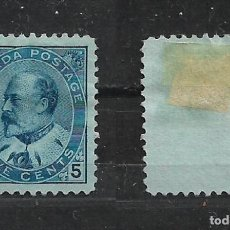 Sellos: CANADA 1903 SCOTT 91 A34 5C BLUE, BLUE 200.00 (*) - 15/28. Lote 192725988