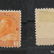 Sellos: CANADA 1922 SCOTT 105 A43 1C ORG YEL 15.00 * - 15/28. Lote 192726536