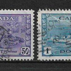 Sellos: CANADA 1942-43 SCOTT 261/262 - 15/29. Lote 192824806