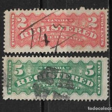 Sellos: CANADA 1875-88 SCOTT F1/F2 - 15/31. Lote 192833347