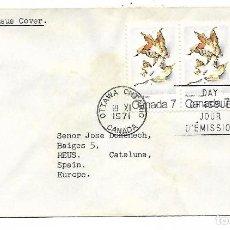 Sellos: CARTA DESDE CANADA A REUS - FECHA 19-11-1971 - REINTEGRADA. Lote 192895076