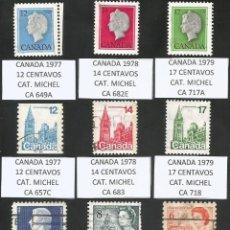 Sellos: CANADA VARIOS AÑOS - LOTE 16 SELLOS USADOS. Lote 193169438