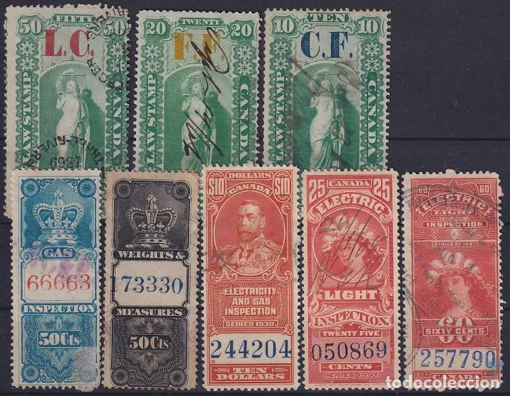Sellos: F-EX15791 CANADA REVENUE STAMPS LOT. GAS ELECTRIC LIGHT WEIGHT LAW STAMPS - Foto 2 - 193697062