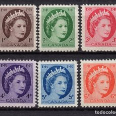 Sellos: CANADA 267/72** - AÑO 1954 - REINA ISABEL II. Lote 194067101