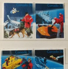 Sellos: CANADÁ , 4 SELLOS DIFERENTES, DEPORTES DE NIEVE, NUEVOS. Lote 194886913