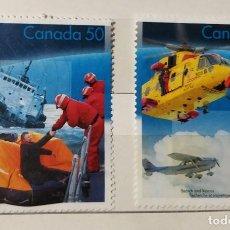 Sellos: CANADÁ , 2 SELLOS DIFERENTES, DEPORTES DE NIEVE, NUEVOS. Lote 194892760