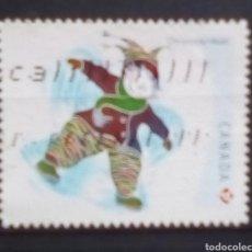 Sellos: CANADA NAVIDAD SELLO USADO. Lote 195317333