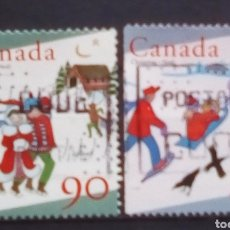 Sellos: CANADA NAVIDAD SERIE DE SELLOS USADOS. Lote 195317638