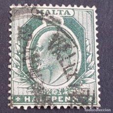 Sellos: MALTA,1903-1904, EDUARDO VII, YVERT 18, SCOTT 21, USADO, (LOTE AG). Lote 198797285