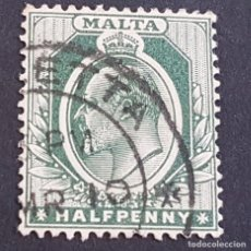 Sellos: MALTA,1903-1904, EDUARDO VII, YVERT 18, SCOTT 21, USADO, (LOTE AG). Lote 198797850