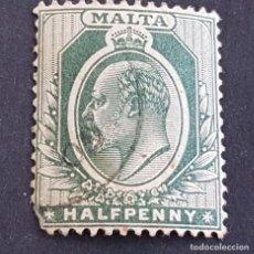 Sellos: MALTA,1903-1904, EDUARDO VII, YVERT 18, SCOTT 21, USADO, (LOTE AG). Lote 198798012