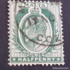 Sellos: MALTA,1903-1904, EDUARDO VII, YVERT 18, SCOTT 21, USADO, (LOTE AG). Lote 198798146