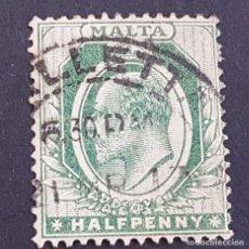 Sellos: MALTA,1903-1904, EDUARDO VII, YVERT 18, SCOTT 21, USADO, (LOTE AG). Lote 198799647