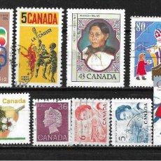 Sellos: CANADA LOTE SELLOS USADOS - 20/18. Lote 199638970