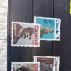 Sellos: CANADA 565/68 AÑO 1975 PERSONAJES NUEVO PERFECTO. Lote 205360603