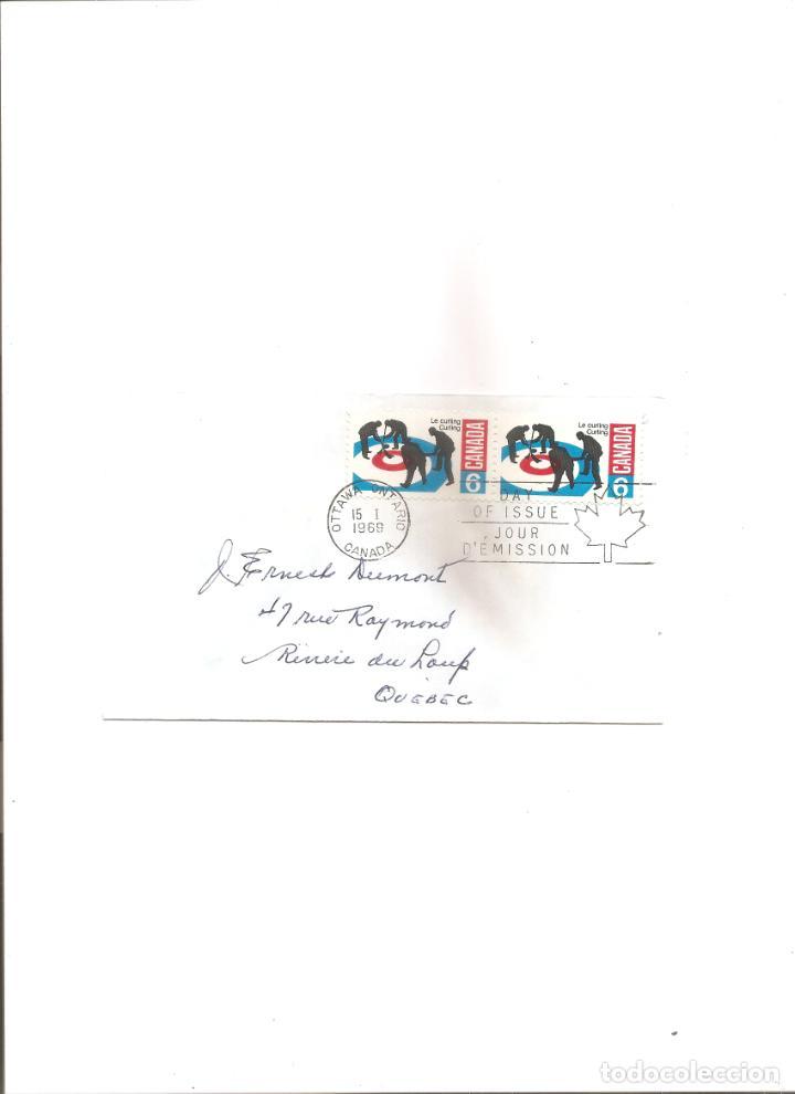 2140. CANADA. SOBRE 15.1.1969. CURLING (Sellos - Extranjero - América - Canadá)