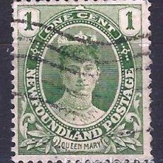Selos: TERRANOVA / NEWFOUNDLAND 1911 - CORONACIÓN DEL REY JORGE V, REINA MARÍA - SELLO USADO. Lote 209362195