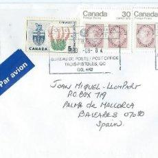 Sellos: 2003. CANADÁ. SOBRE CIRCULADO TROIS PISTOLES. FRANQUEO ESCUDO/COAT OF ARMS. NATURALEZA/NATURE. ARTE.. Lote 210421646